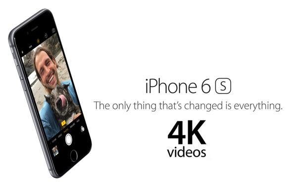 iPhone 6S/6S Plus 4K video