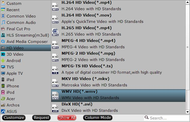Output the same file format as original WMV file