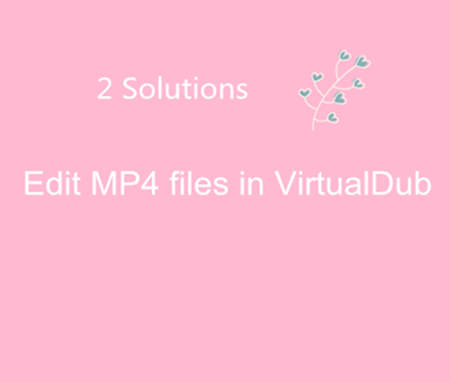 Solve can't Edit MP4 video with VirtualDub | Video Pedia