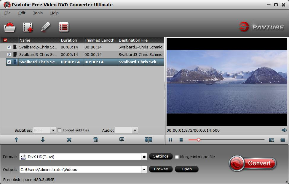 Load source MKV video