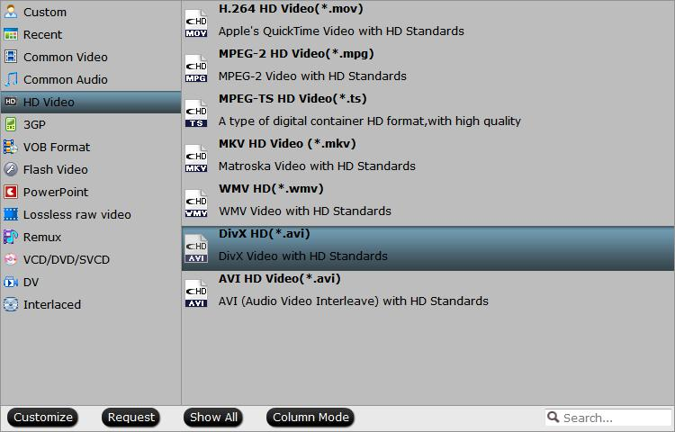 Output Divx HD AVI