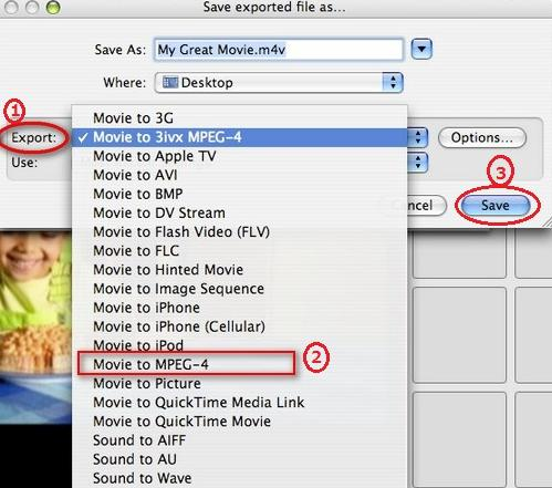 Export iMovie video to MP4 from iMovie