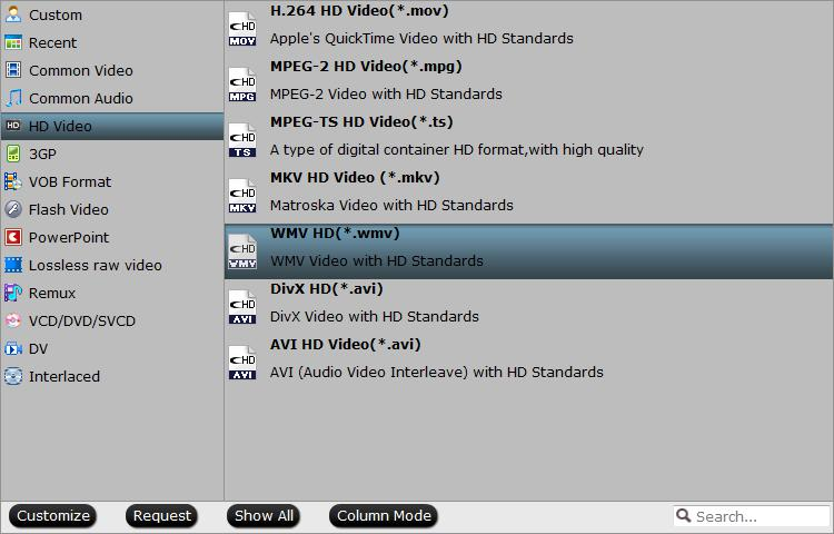 Output to high quality WMV video with VC-1 codec