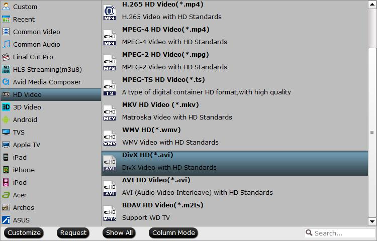 Samsung Smart TV supported HD file formats