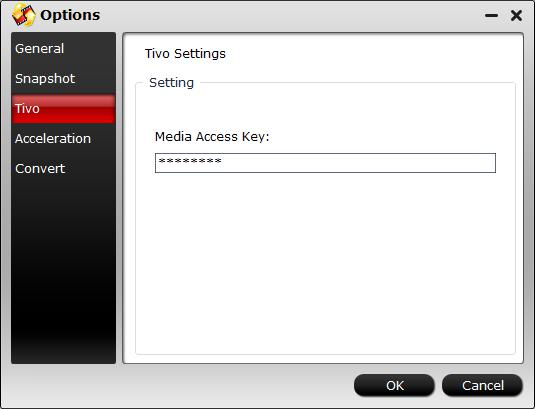 Enter Tivo Media Access Key