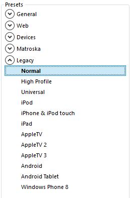 Select normal settings
